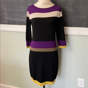 Nine West Striped Sweater Dress small